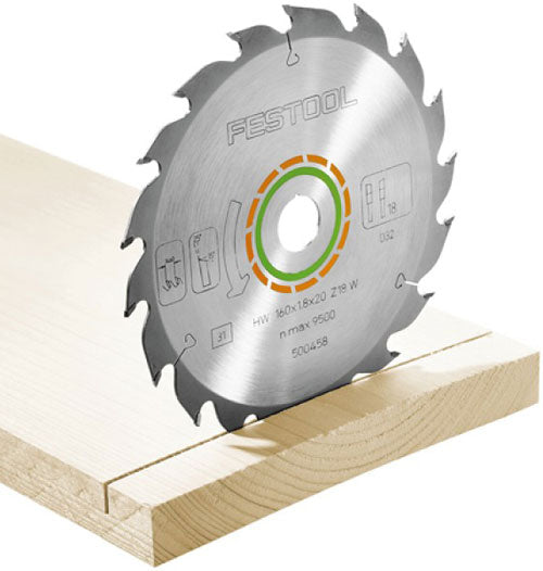 Festool 500461 18-Tooth Cross Cut HK 55 - HKC 55 Saw Blade
