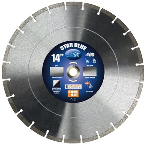 "Diamond Products 14355 Star Blue High Speed 14"" Diamond Saw Blade"