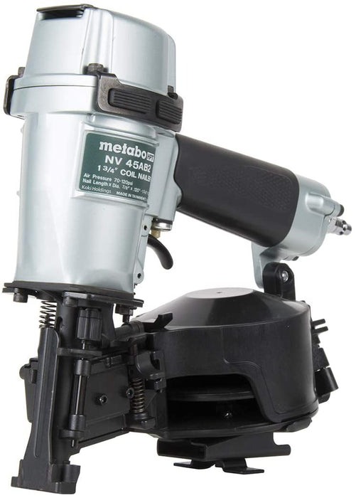 "Metabo HPT NV45AB2 Roofing Nailer 1-3/4"" Coil"