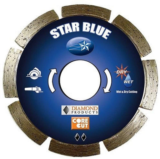 "Diamond Products 74967 Star Blue 41/2"" Segmented Tuck Point Diamond Blade"
