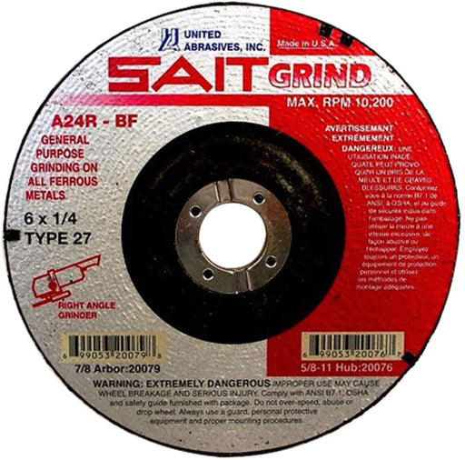 "United Abrasives - Sait 20079 6"" x 1/4"" General Purpose Grinding Wheel"