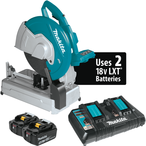 "Makita XWL01PT 18V X2 (36V) LXT Lithium‑Ion Brushless Cordless 14"" Cut‑Off Saw Kit"