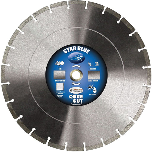 "Diamond Products 85261 Star Blue High Speed 14"" Diamond Saw Blade"