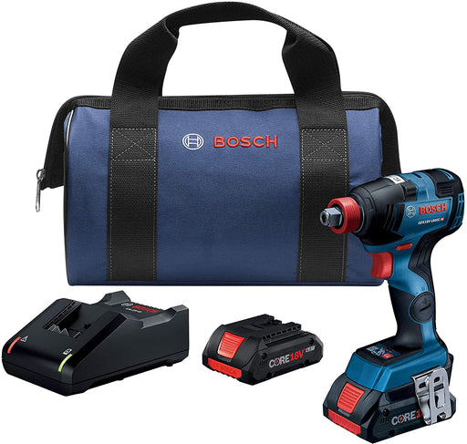 "Bosch GDX18U-1800CB25 18V EC Brushless Connected-Ready Freak 1/4"" and 1/2"" Two-In-One Bit/Socket Impact Driver Kit"