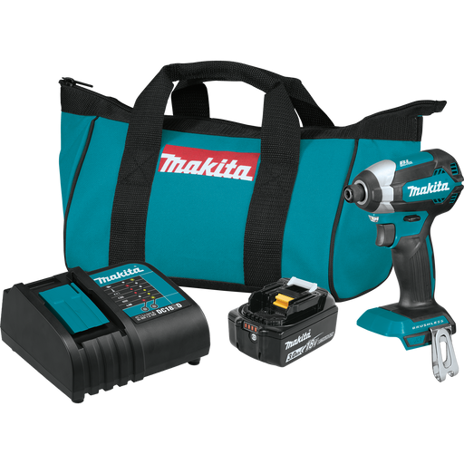 Makita XDT131 18V LXT Lithium‑Ion Brushless Cordless Impact Driver Kit Image 1