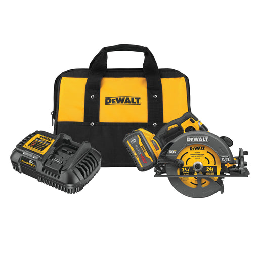 "DeWalt DCS578X1 Flexvolt 60V MAX Brushless 7-1/4""Cordless Circular Saw Kit with Brake"