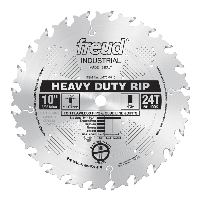 "Freud LM72M010 10"" Heavy Duty Rip Saw Blade"