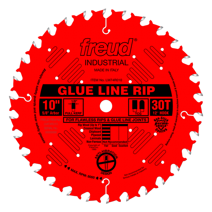 "Freud LM74R010 10"" Coated Glue Line Rip Saw Blade"