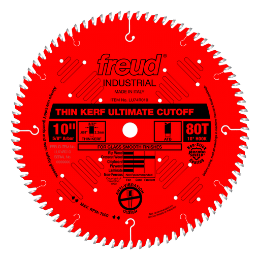 "Freud LU74R010 10"" Coated Ultimate Thin Kerf Saw Blade"