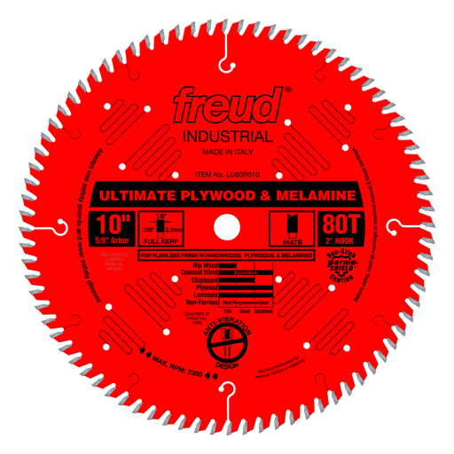 "Freud LU80R010 10"" Coated Precision Crosscut Saw Blade"