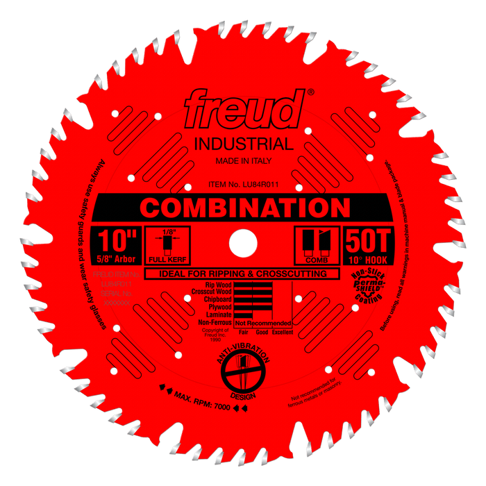 "Freud LU84R011 10"" Coated Combination Blade"