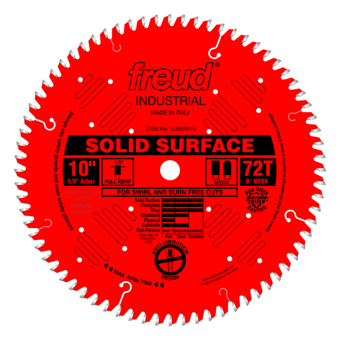 "Freud LU95R010 10"" Coated Solid Surface Blade"