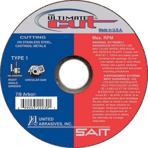 "United Abrasives - Sait 22230  4-1/2"" x 0.045"" Ultimate Cut Cutting Wheel"