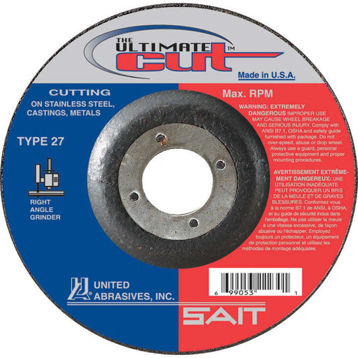 "United Abrasives - Sait 22380  4-1/2"" x 0.045"" Ultimate Cut Cutting Wheel"