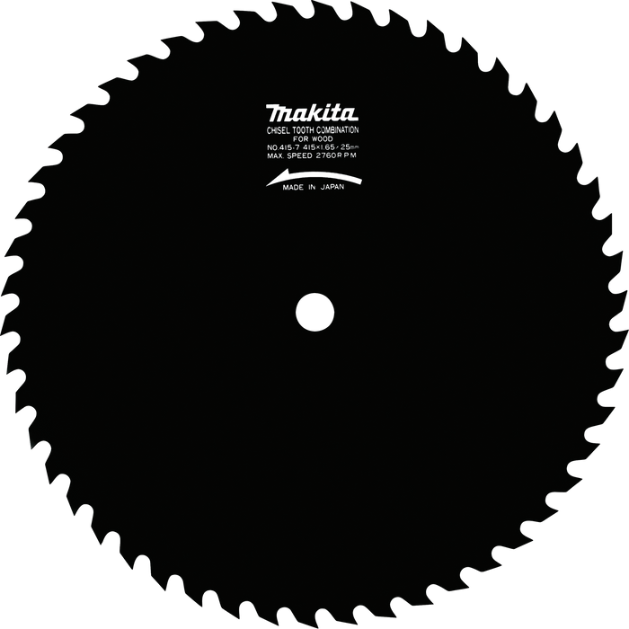 "Makita 792116-2 16‑5/16"" 50T Steel Circular Saw Blade, General Purpose"