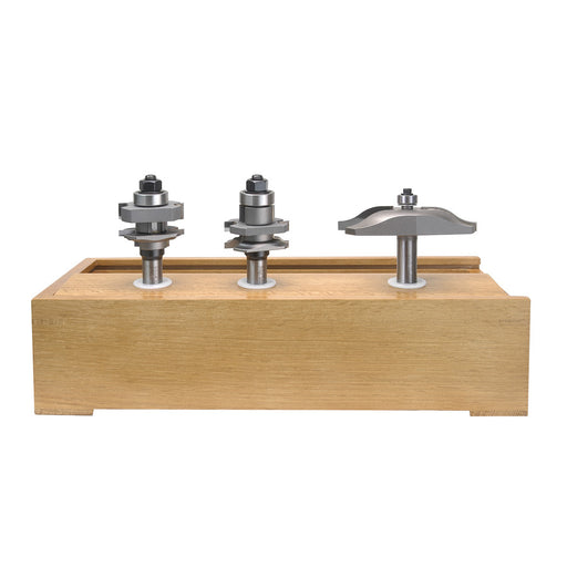 Amana AMS-301 3-Piece Ogee Raised Panel Doormaking Router Bit Set - Image 1