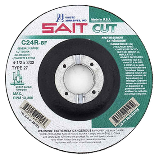 "United Abrasives - Sait 22025 4-1/2"" x 3/32"" Concrete Cutting Wheel"