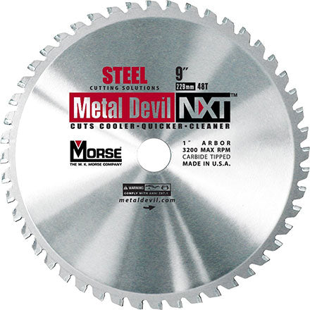 "MK Morse CSM948NSC 9"" Metal Devil NXT Steel Cutting Blade"