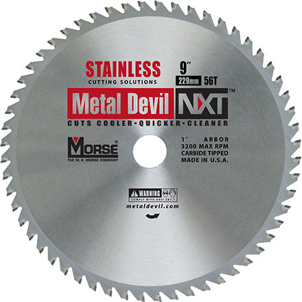 "MK Morse CSM956NSSC 9"" Metal Devil NXT Stainless Steel Cutting Blade"