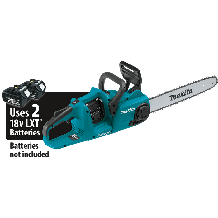 "Makita XCU04Z 18V X2 (36V) LXT Lithium‑Ion Brushless Cordless 16"" Chain Saw (Tool Only) Image 1"