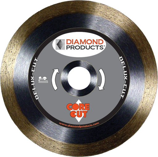 "Diamond Products 20721 Delux-Cut 7"" Continuous Rim Tile Diamond Blade"