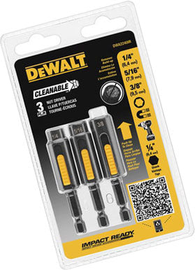 DeWalt DWA2240IR 3 Peice Cleanable Nut Setter Kit