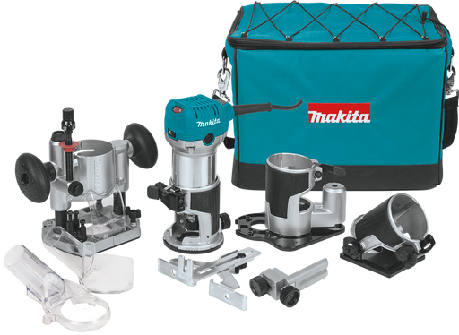 Makita RT0701CX3 Compact Router Kit Image 1