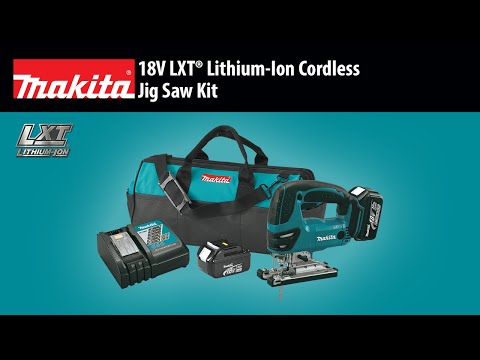 Makita XVJ03 LXT 18 Volt Cordless Jig Saw Kit Video