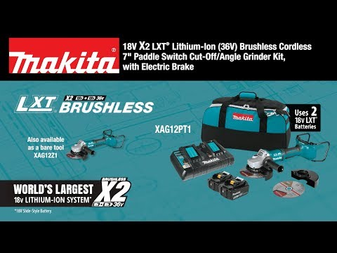 Makita XAG12PT1 18V X2 (36V) LXT Grinder Video