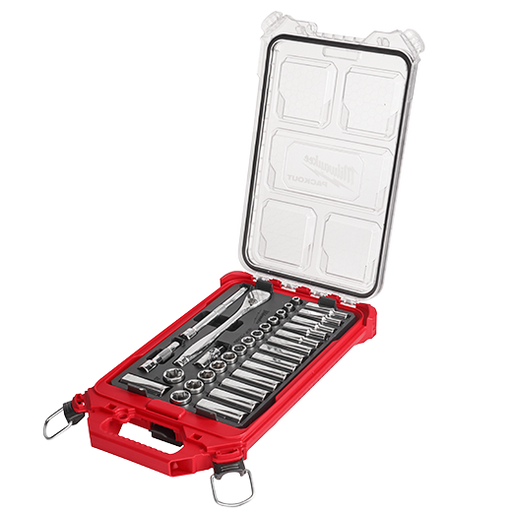 "Milwaukee 48-22-9482 3/8"" Drive 32pc Ratchet & Socket Set - Metric Image 1"