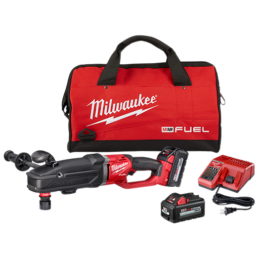 Milwaukee 2811-22 M18 Fuel Super Hawg Right Angle Drill Kit Image 1