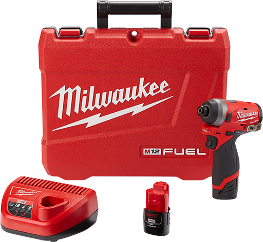 "Milwaukee 2553-22 M12 Fuel 1/4"" Hex Impact Driver Kit Image 1"