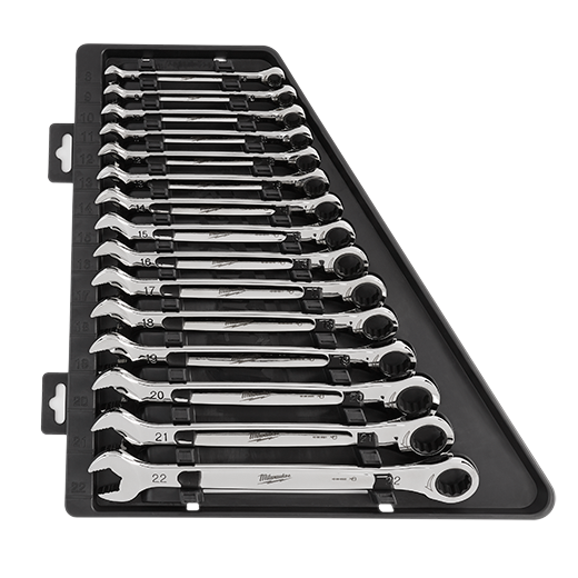 Milwaukee 48-22-9516 15 Piece Ratcheting Combination Wrench Set - Metric - Image 2
