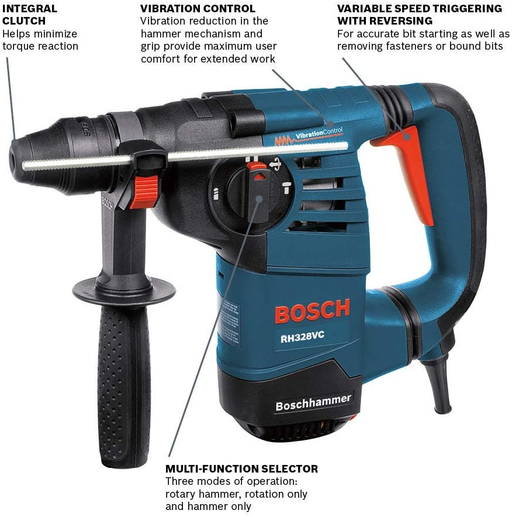 "Bosch RH328VC 1-1/8"" SDS-Plus Rotary Hammer - Image 2"
