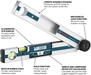 Bosch GAM 220 MF Miterfinder Digital Angle Finder - Image 2