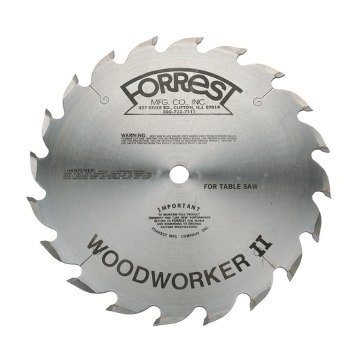 "Forrest WW10206125 10"" Customized Woodworker II Saw Blade"