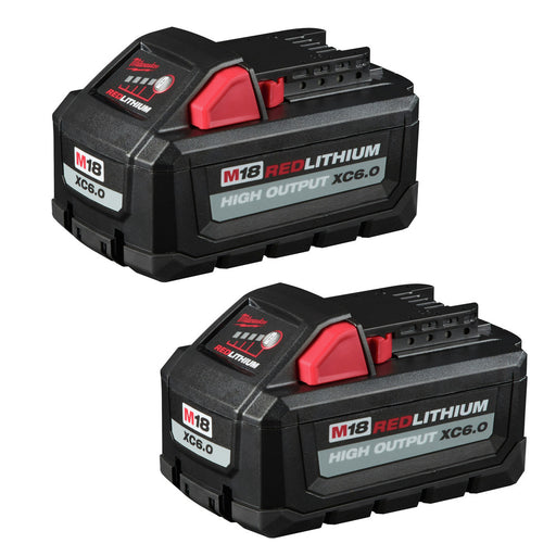 Milwaukee 48-11-1865 M18 Redlithium High Output XC6.0 Battery 2-Pack