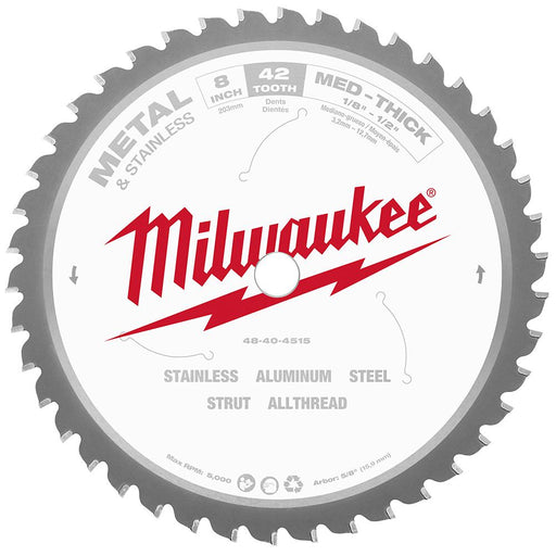 "Milwaukee 48-40-4515 8"" Metal Cutting Circular Saw Blade Image 1"