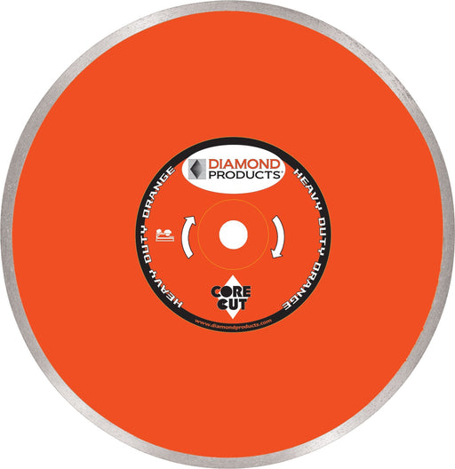 "Diamond Products 12359 Heavy Duty Orange 10"" Continuous Rim Tile Diamond Blade"
