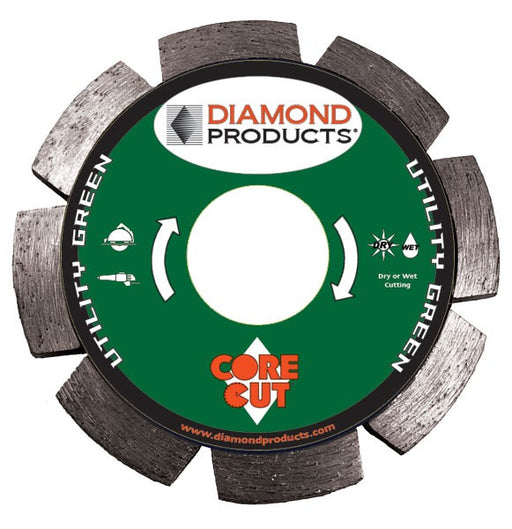 "Diamond Products 31807 Utility Green 4"" Segmented Tuck Point Diamond Blade"