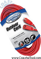 Coleman Cable Vinyl 3 Conductor Outdoor Extension Cord