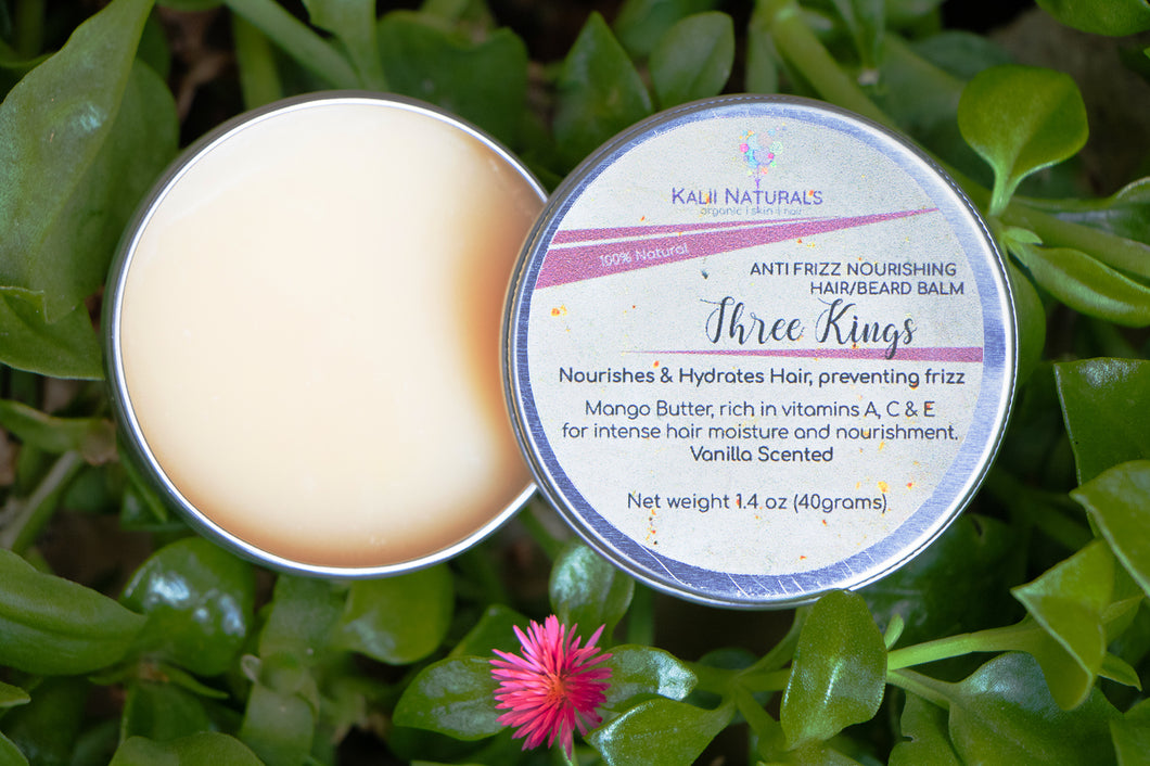 Three Kings Anti Frizz Hair/Beard Balm $11.95