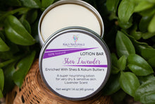 Load image into Gallery viewer, Shea Lavender Lotion Bar $8.75
