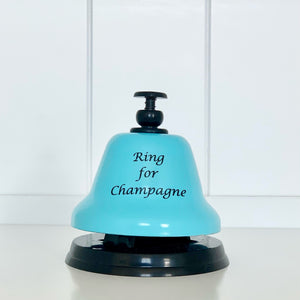 """Ring for Champagne"" Blue and Black Bar Bell"