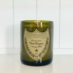 DP Vintage 2009 Champagne Candle - Upcycled and hand-made using a repurposed champagne bottle