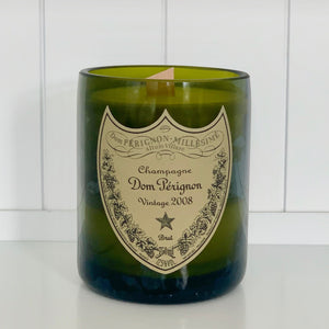 DP Vintage 2008 Champagne Candle - Upcycled and hand-made using a repurposed champagne bottle