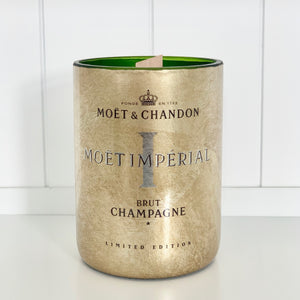 MC Impérial Champagne Candle - Upcycled and handmade using a repurposed bottle