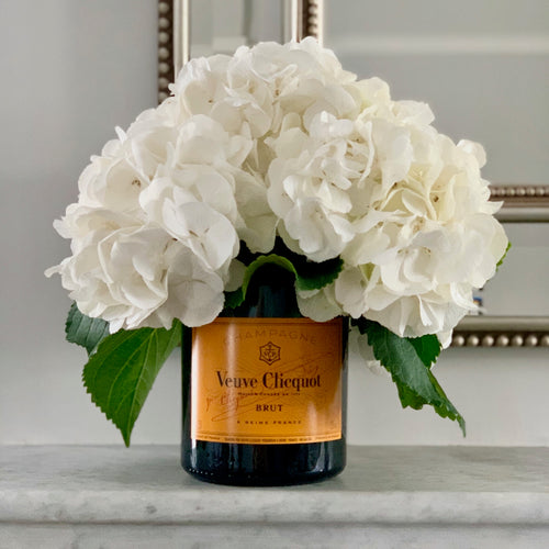 VC Yellow Label Upcycled Champagne Magnum Vase