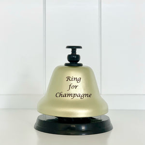 """Ring for Champagne"" Gold and Black Bar Bell"