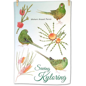 Saving Kyloring Tea towel Silken Twine Tea Towel